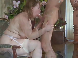 A great magic russian mature with lucky boy