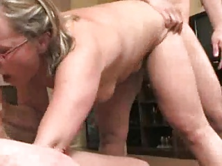 busty mature and friend get gangbang