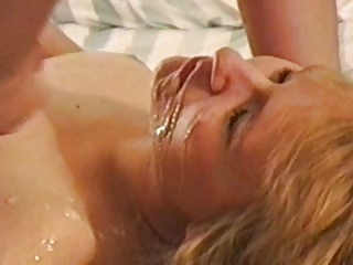 #homemademature - hot milf blonde gets blast with cum