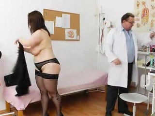Old nymph inside Stockings has Toyed And Fingered By the Doctor